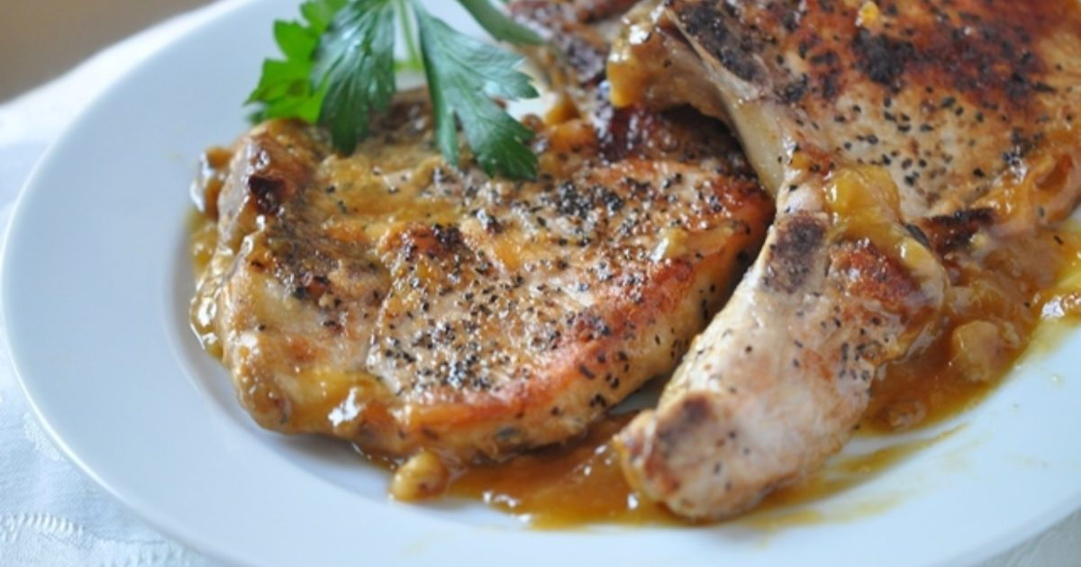 pork chops with chutney  speaking of women's health