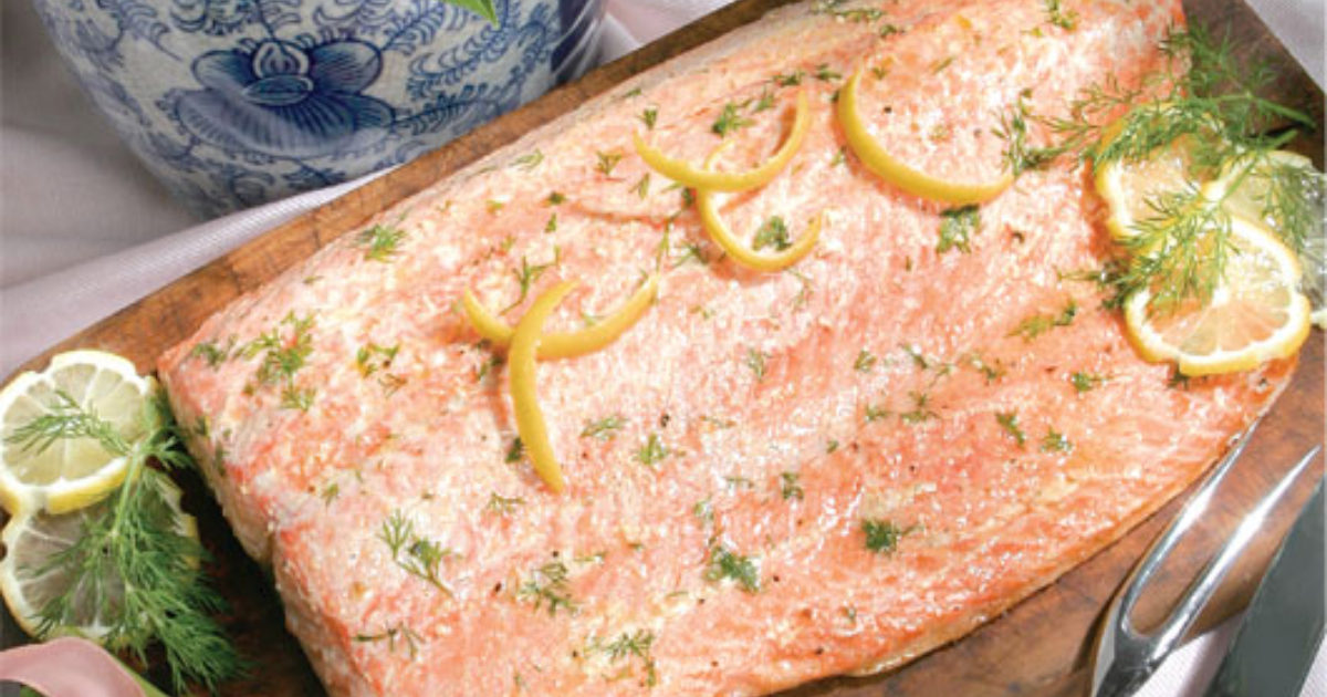 heart healthy grilled or baked salmon  speaking of women