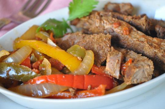 Beef Fajitas in Slow Cooker