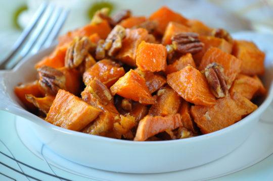 Butter Pecan Roasted Sweet Potatoes