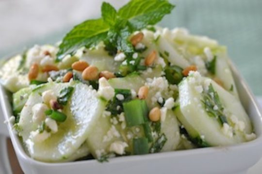 Cucumber, Mint and Feta Salad