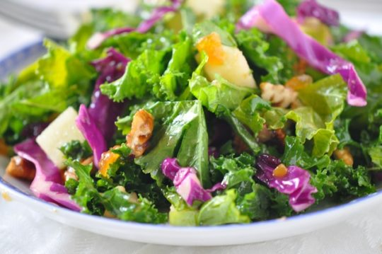 Kale Salad with Fruity Vinaigrette