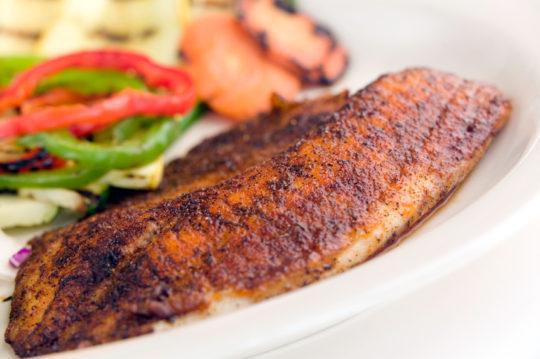 Thai Swordfish in Red Curry Sauce
