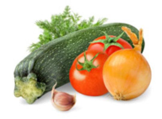 Roasted Garlic, Zucchini and Tomato Bake