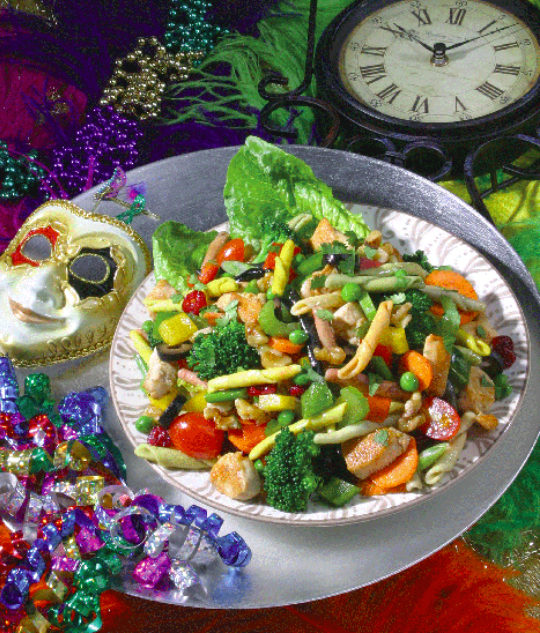 Mardi Gras Pasta Salad