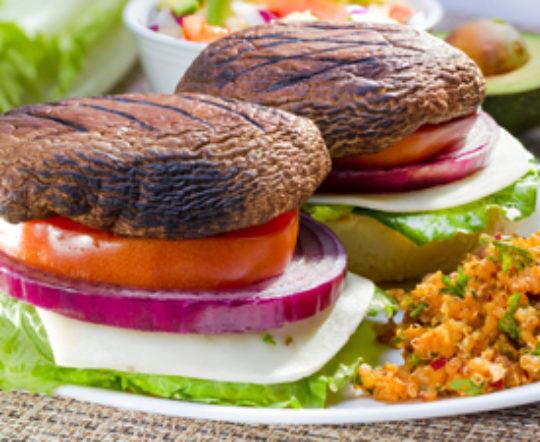 Portabella Mushroom Sandwich with Dijon Balsamic Vinaigrette