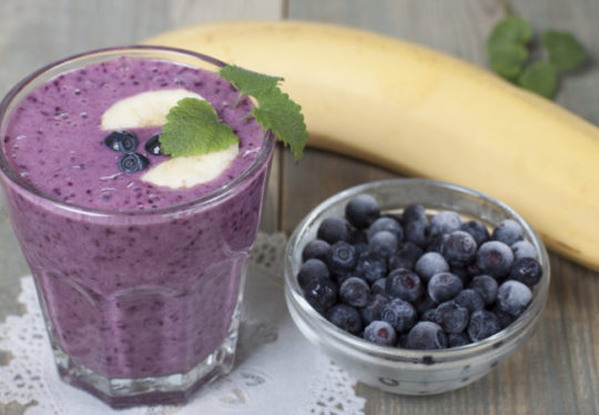 Banana, Raspberry and Blueberry Smoothie