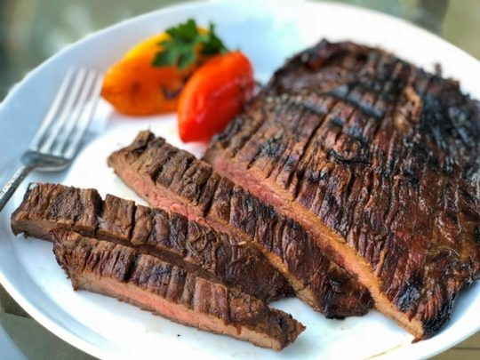 Flank Steak in Coffee Marinade