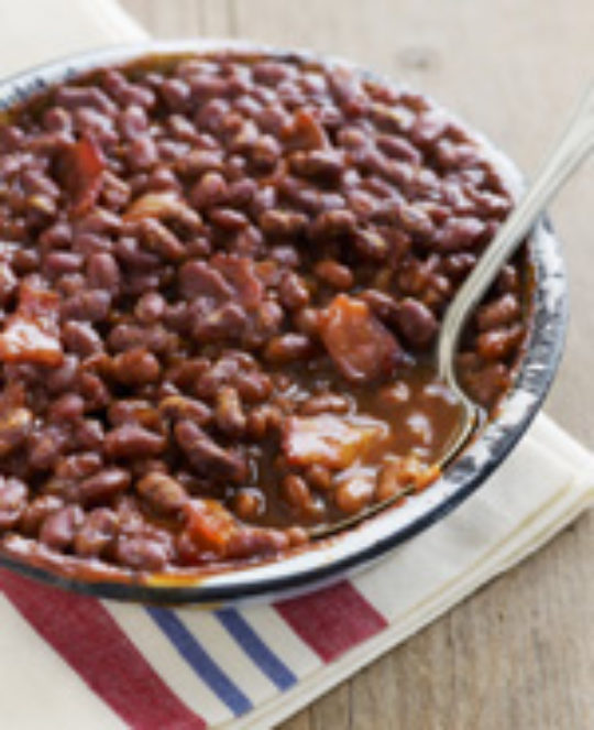 Checkerboard Baked Beans