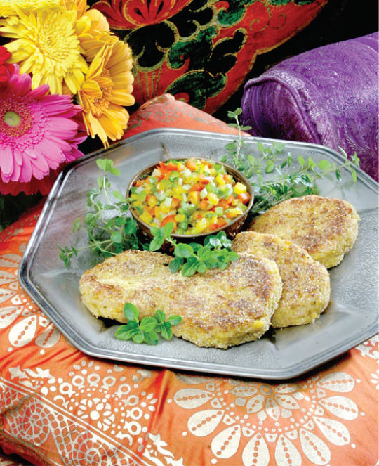 Chick Pea & Corn Patties