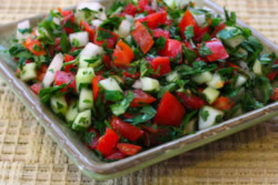 Middle Eastern Salad With A Healthy Twist