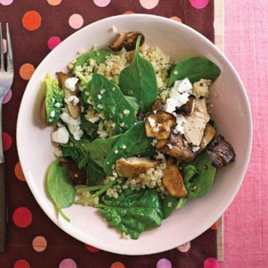 Quinoa, Spinach and Shiitake Salad
